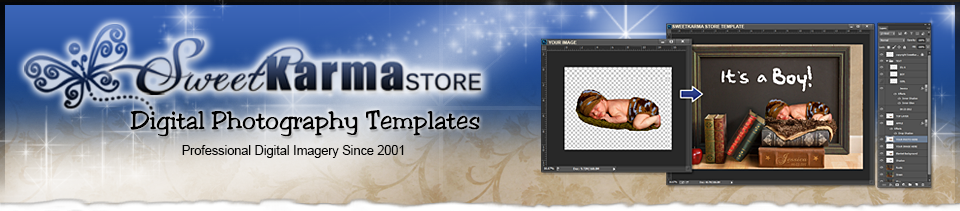 Digital Layered Photoshop Templates
