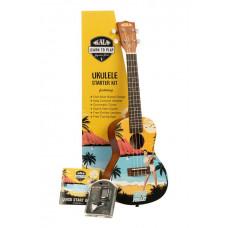 Kala Learn To Play Elvis Blue Hawaii Concert Ukulele Starter Kit Kala