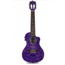 Lanikai QM-PUCEC Concert Ukulele with Cutaway & Electronics - Purple Stain