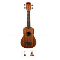 Kala Learn To Play Satin Mahogany Soprano Ukulele Starter Kit