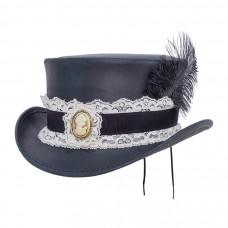 MARLOW BURLESQUE TOP HAT Steampunk Hatter Medium