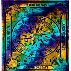 Cotton Tapestry Tie & Dye Zodiac